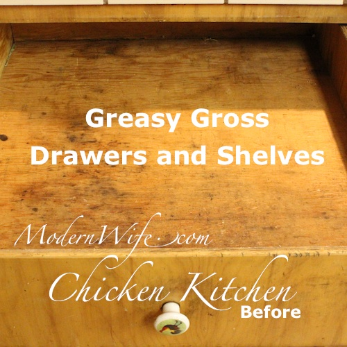 Chicken Kitchen Drawer Before