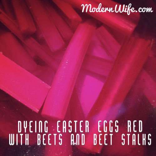 Easter Eggs dyed with beets
