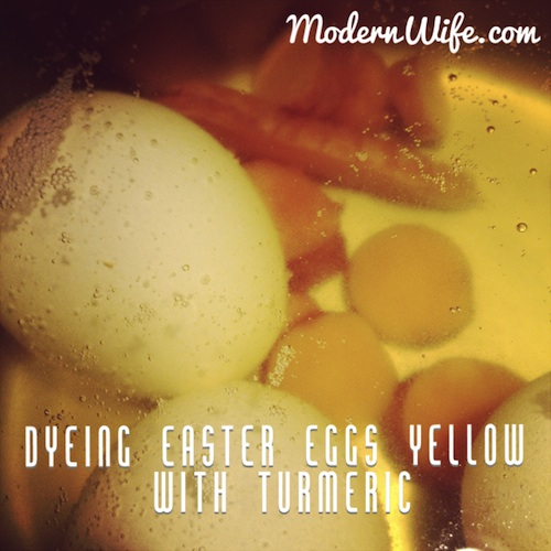 Easter Eggs dyed with turmeric
