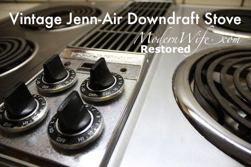 Vintage Jenn-Air Downdraft Stove